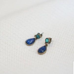 3 for $20 Dainty Blue & Green Teardrop Earrings
